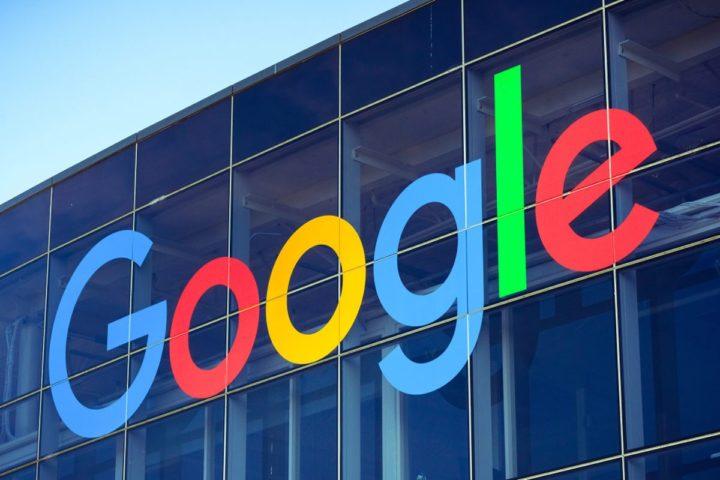 Googleロゴが載ってる社屋のロゴ写真